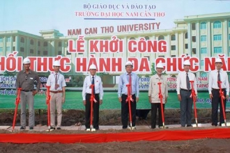 Groundbreaking ceremony of multi-function practice building and swimming pool