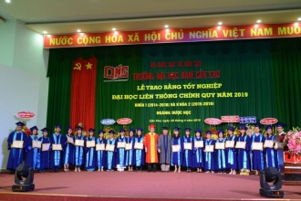 NAM CAN THO UNIVERSITY GRADUATION CEREMONY FORMAL SHIFT TRAINING 2019 COURSE 1(2014-2018) and COURSE 2 (2015-2019)