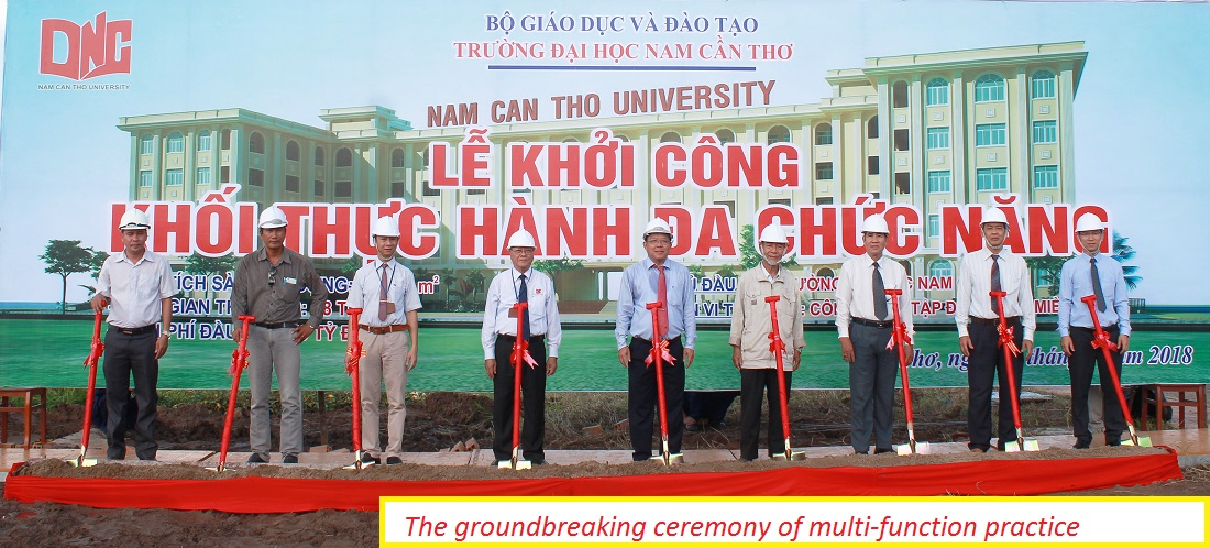 The groundbreaking ceremony of multi-function practice building